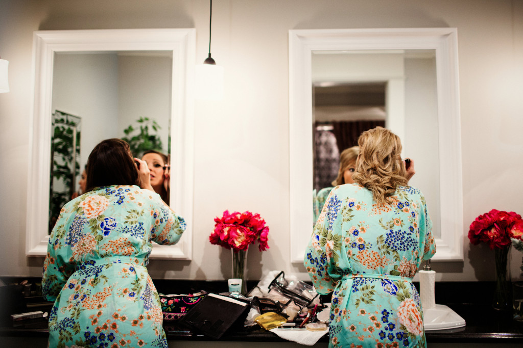 Mint Bridesmaids Robes Getting Ready