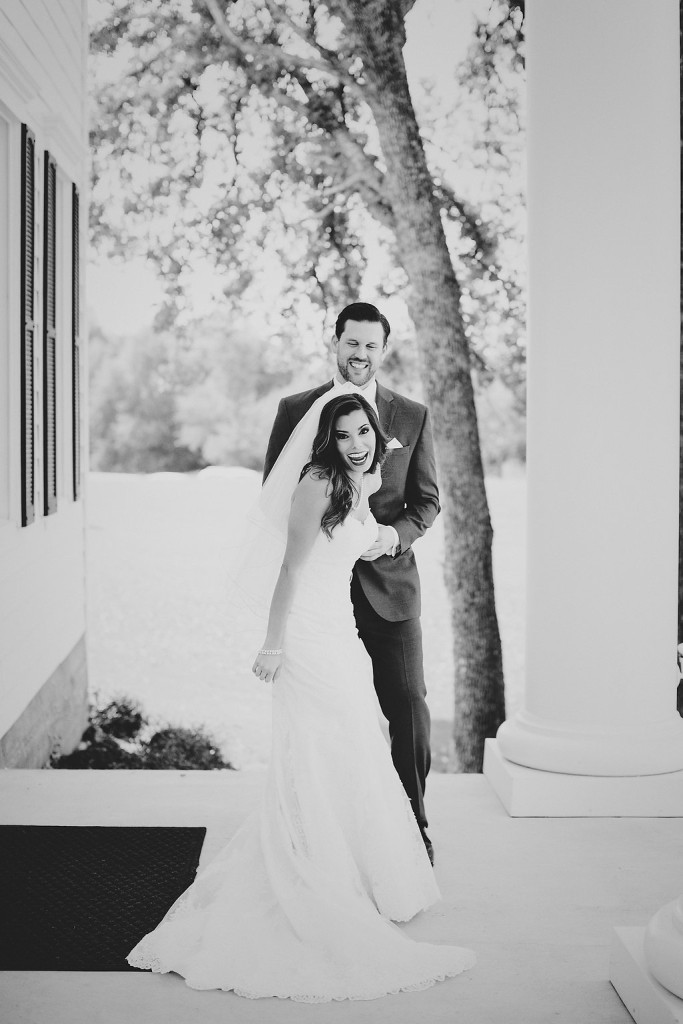 First Look Bride and Groom | The Milestone Aubrey