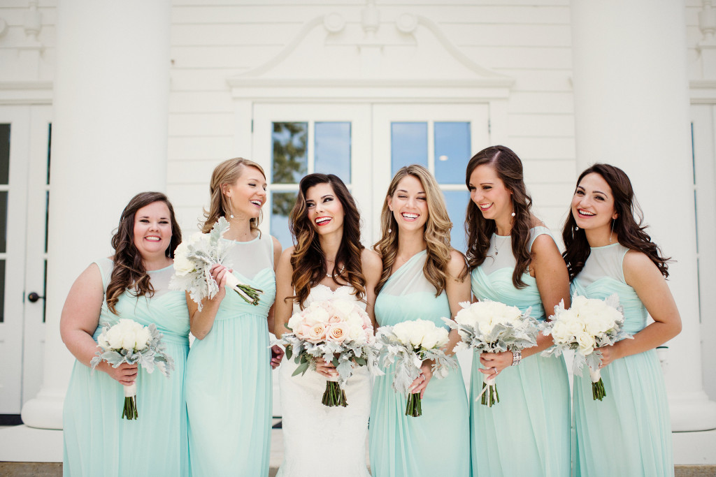 mint green bridesmaids | the milestone aubrey
