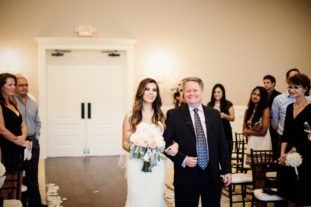 Father Daughter Walking Down the aisle