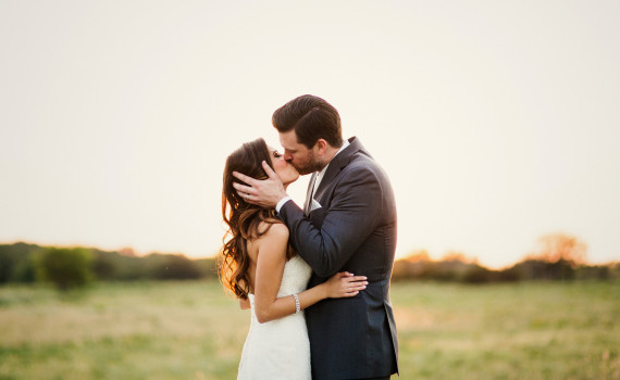sunset bride and groom | the milestone aubrey mansion