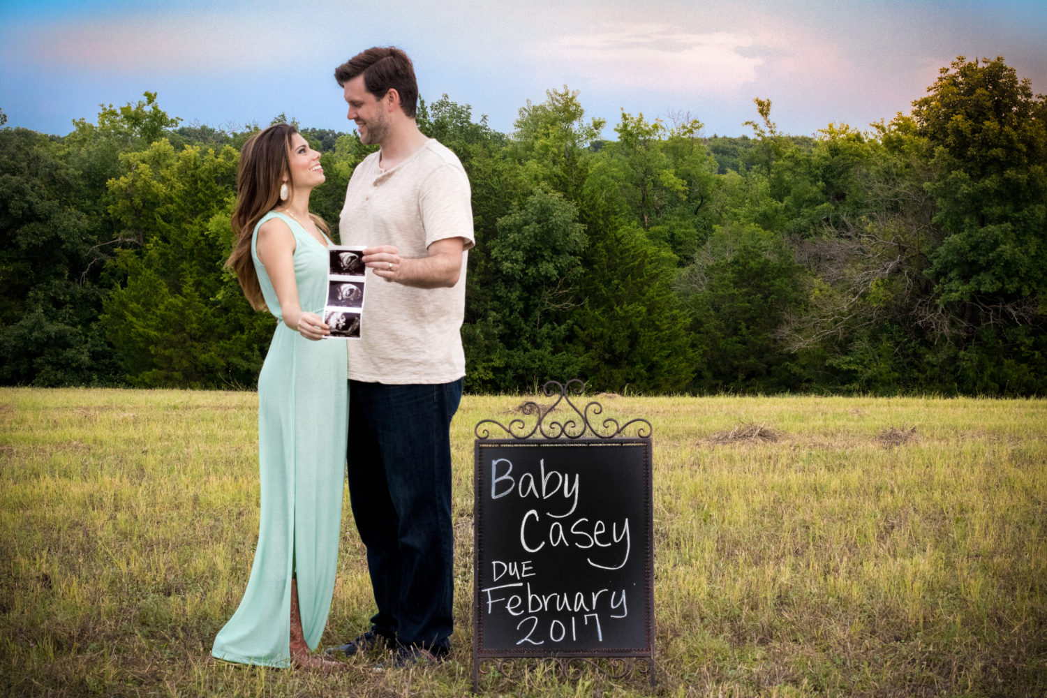 Baby Casey Announcement Sunset Ultrasound