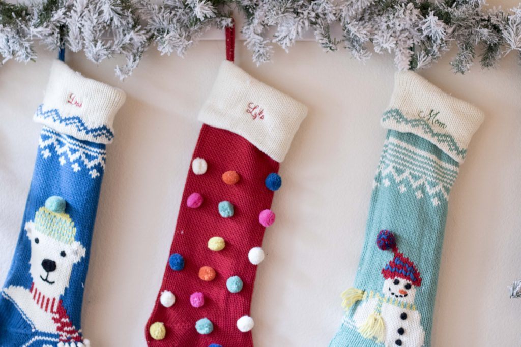 Pottery Barn Merry and Bright Stocking Monogrammed